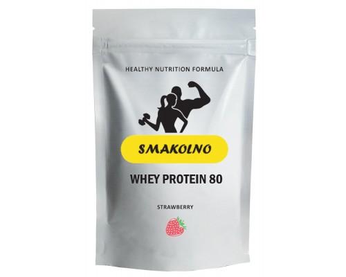 Протеин SMAKOLNO / КСБ 80% клубника, 0.9кг