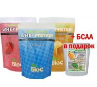 Протеин БиоС 4кг + БСАА в подарок